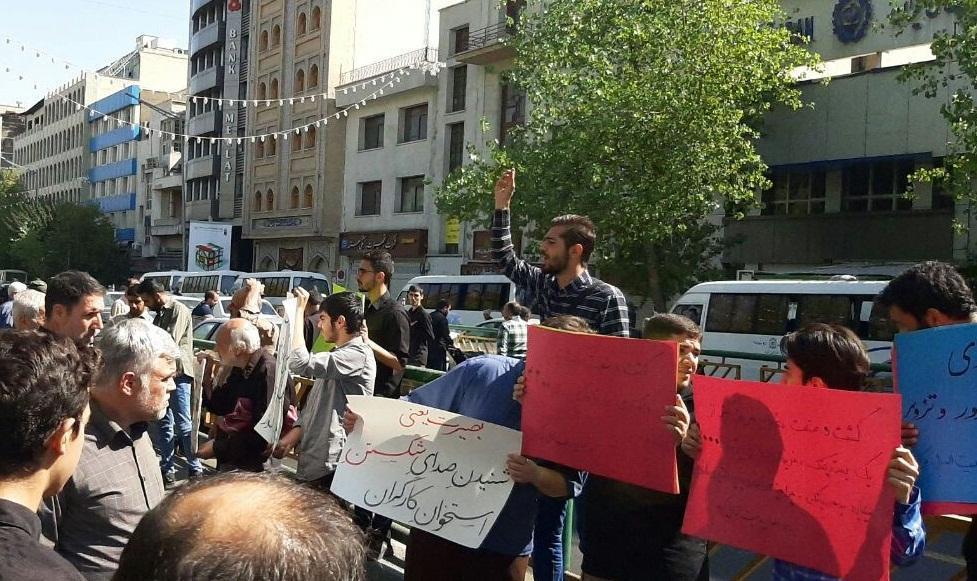 دانشجویان تهرانی در حمایت از مطالبات کارگران هفت تپه و هپکو تجمع کردند