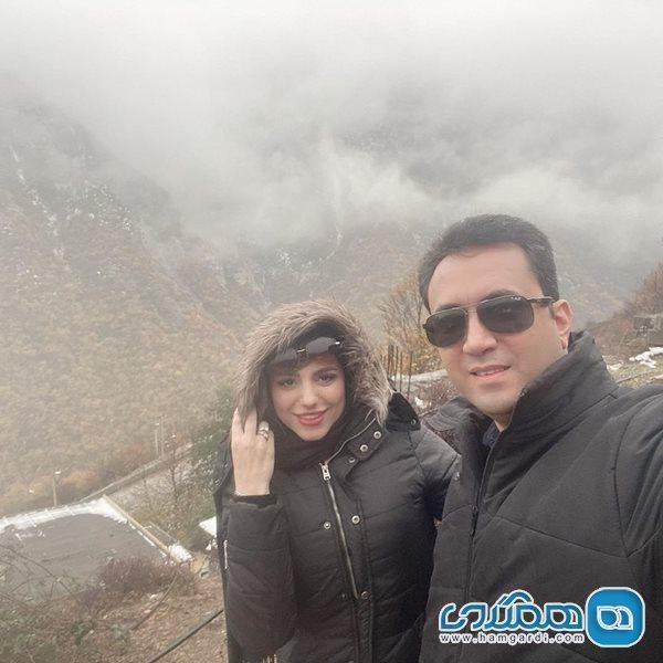 خانم مجری در کنار آقای همسر